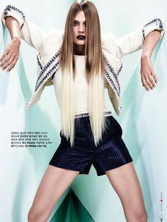 Constance Jablonski for W Magazine Korea December 2012 by Catherine Servel