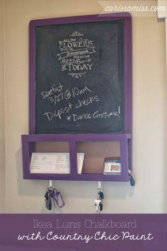 Carissa Miss: Ikea Luns Chalkboard #countrychicpaint