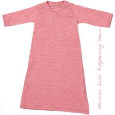 Merino Kids Raspberry Gown Merino Wool, Organic Cotton, Raspberry, Cold Shoulder Dress, Range, Gowns, Classic, Kids, Dresses