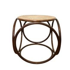 2019 New Style Vintage Wooden Woven Rattan Reed Foot Stool Orders Are Welcome. Collectibles Furniture