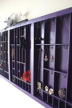 Grape Purple Jewelry Display by bluebirdheaven on Etsy, $116.00