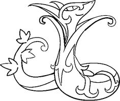 Rare Pokemon Coloring Pages 9 Jpg 1056 816 Lineart Pokemon Snivy Coloring Pages