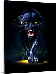 Chris Hiett Premium Thick-Wrap Canvas Wall Art Print entitled Black Panther, None Canvas Wall Art, Wall Art Prints, Poster Prints, All Black Everything, Modern Wall Art, Primary Colors, Wrapped Canvas, Deviantart, Fantasy