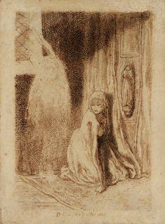 Faust: Margaret in the Church, Dante Gabriel Rossetti A4 Poster, Poster Prints, Dante Gabriel Rossetti, Vintage Artwork, Vintage World Maps, Fine Art, Painting, Royal Mail, Death