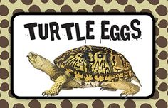 "Critter Birthday Party Snack Bar Sign - Used large malted milk balls as the ""Turtle Eggs"""