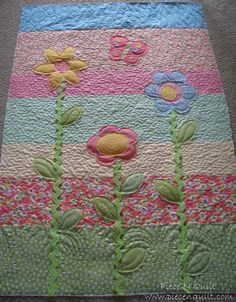 Simple applique baby quilt