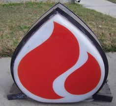 Vintage AMOCO Standard Oil Gas Sign Flame Globe w/ Metal Frame Dusty Barn Find! #AMOCOGASOIL