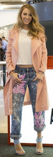 The reason why Blake Lively looks this good postbaby? It's all because of her Rialto cherry-blossom jeans, which are available to shop on her website, Preserve.