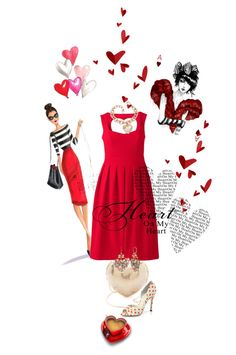 """""""Queen Of Hearts!"""" by kari-c ❤ liked on Polyvore featuring mode, Whiting & Davis, Betsey Johnson, 3.1 Phillip Lim, Alice + Olivia et fashionset"""