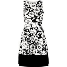 Cameo Rose Black Floral Print Prom Dress ($16) ❤ liked on Polyvore