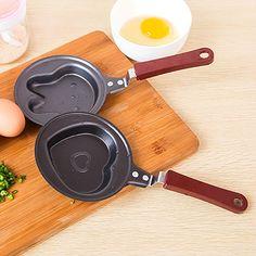 Cast Iron  Frying Pan Lovely Rabbit Heart Shaped  Kitchen Tools  DIY Egg Pan Housewares