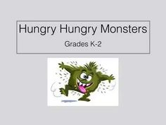 Games Hungry Hungry Monsters Throwing and Catching Pe Games Elementary, Elementary Physical Education, Pe Activities, Gross Motor Activities, Fitness Games For Kids, Throwing Games, Adapted Pe, Kindergarten Games, Classroom Games