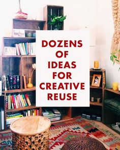 Dozens of ideas for creative reuse reuse recycle, upcycle, recycling, home crafts, Do It Yourself Furniture, Diy Furniture, Reuse Recycle, Upcycle, Recycling, Reduce Reuse, Home Projects, Projects To Try, Do It Yourself Inspiration
