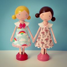 Peg doll, clothespin doll | Flossy Bobbins Makery