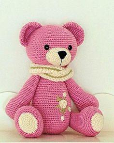 Crochet Bear Hat, Knitted Teddy Bear, Crochet Amigurumi Free Patterns, Cute Crochet, Crochet Dolls, Amigurumi Tutorial, Crochet Teddy Bear Pattern Free, Learn Crochet, Beautiful Crochet
