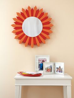 Mirrors on pinterest mirror wall mirrors and starburst for Decorative crafts mirrors