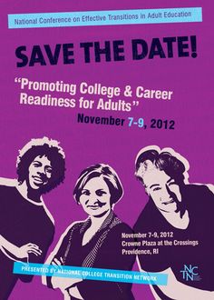 The National Conference on Effective Transitions in Adult Education, November 7-9, 2012