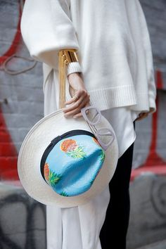 I'm Doing It: How to Wear a Straw Hat this Winter - Man Repeller