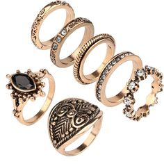 Yunkingdom vintage kleine size ring set bague femme ringen vrouwen dames sieraden goedkope groothandel/retail yun1196