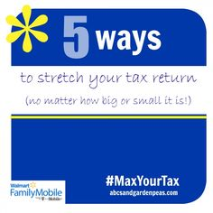 5 Ways to Stretch Your Tax Return, no matter how big or small it may be! #MaxYourTax #ad