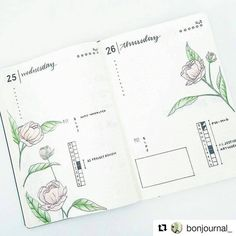 OMG one of the pretties bullet journal pages I've seen