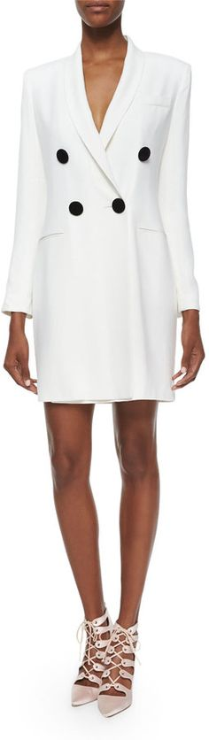 Adam Lippes Asymmetric Double-Breasted Crepe Jacket/Dress