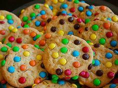 Receita de Cookies de M&M's - Tudo Gostoso