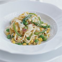 Fresh Pasta with Spicy Corn and Asparagus Recipe - Scott Conant | Food & Wine