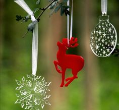 little reindeer, less work to finish when using Perspex but do in wood for more creative crafters to decorate it