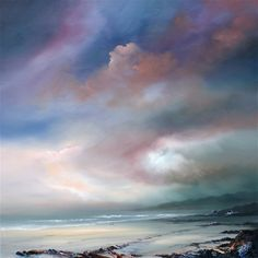 """Another Day Dawns, 32"""" x 32"""", Oil on canvas painting - part of the Pure Shores collection from Philip Gray. Find out more..."""