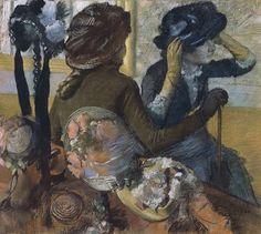Chez la modiste, par Édgar Degas