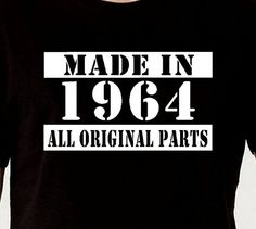 Made In 1964 Vintage 50th Birthday Gift Present by DesignDepot123