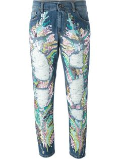 Marco Bologna sequin embroidered tapered jeans