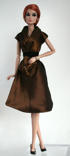 Bronze tone shirtdress for Barbie by ChicBarbieDesigns on Etsy, $19.99