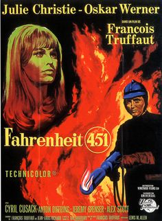 fahrenheit 451 , novela de ray braburry , en donde aparecen los audífonos y los televisores de pantalla plana 1953