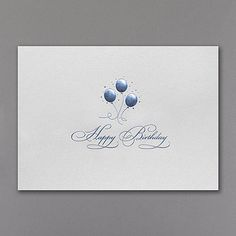 simplistic elegance executive business birthday cards httppartyblockcarlsoncraftcom - Business Birthday Cards