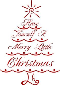Merry Christmas Tree Vinyl Wall Decal /