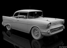 Highpoly Chevy 3D 3Ds - 3D Model