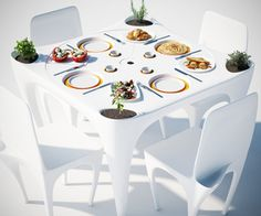 Great Table That Protects Your Meal From The Wind! You Can Get Creative With It  And