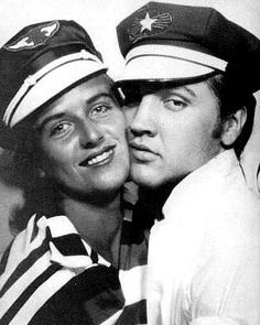 Elvis with his girlfriend June Juanico in Memphis in june 1956. She was native from Biloxi where she live again today . In 2015 her age is 78 years old.