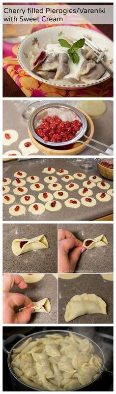 Cherry Pierogies/Vareniki using canned tart cherries