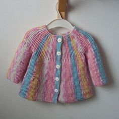 Little Jamboree Free Cardi Knit Pattern for BabyTags: #crochet freecrochet #knittingpatterns #knitting