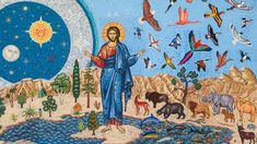 This HD wallpaper is about photo of The Creation painting, genesis, mosaic, iconography, Original wallpaper dimensions is file size is Original Wallpaper, Hd Wallpaper, Genesis Bible, Genesis 1, Bible Images, Iphone 2g, Adam And Eve, Orthodox Icons, Retina Display
