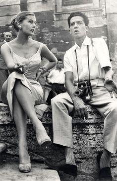 Anita Ekberg and Pierluigi Praturlon 40s 60s found photo print ad model movie star dress bombshell sheath