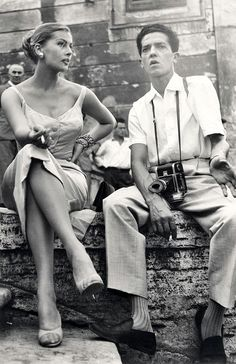 Pierluigi Praturlon with camera ... and Kerstin Anita Marianne Ekberg