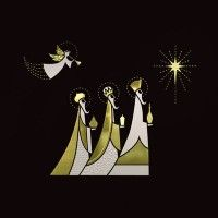 An Angel and Three Kings Christmas Cards