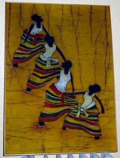 African Dancers on Canvas Art  Dancing Woman by VistaChick on Etsy, $42.50