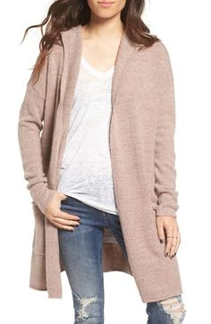 Free shipping and returns on BP. Marled Knit Cardigan Hoodie at Nordstrom.com. Softly marled yarn in the perfect shade of dusty pink adds rich texture to a knit long cardigan equipped with a hood for an extra-cozy fit.
