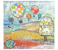 Art Print Up up and away  Print of Mixed by ThisCreativeBliss, £15.00
