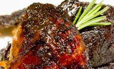Marinated in herbs, this duck is roasted to form a crispy skin with a tender center to be served with a acidic balsamic sauce. Duck Recipes, Wine Recipes, Chicken Recipes, Joy Of Cooking, Cooking Ideas, Cooking Recipes, I Love Food, Good Food, Duck Confit